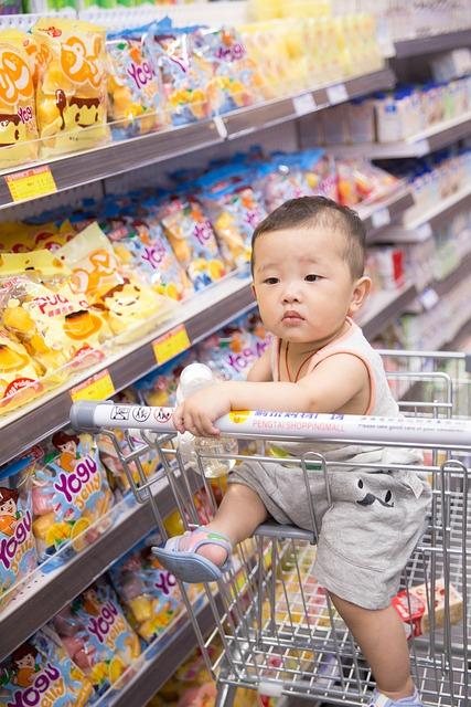 Supermarket, Kids, Baby, Boy