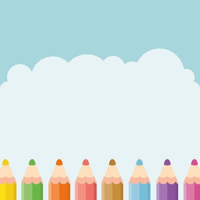 Pencil, Sky, Kids, Cute, Design, Learning