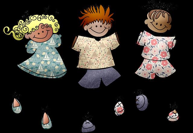 Stick People, Children, Kids, School, People, Cartoon
