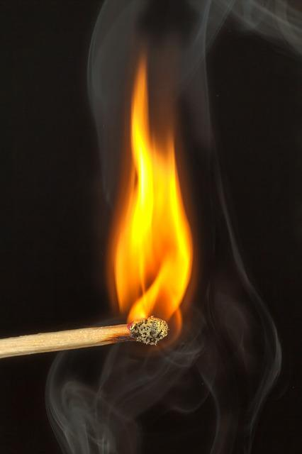 Match, Fire, Close, Burn, Matches, Kindle, Flame, Macro