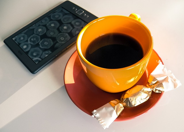 Coffee, Kindle, Candy, Morning, Teacup, Reading