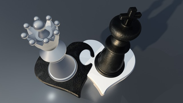 Chess, Figures, Lady, King, Pair, Heart, Love