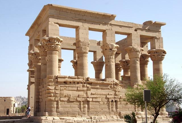 Egypt, Aswan, Philae, Temple, Kiosk, Trajan, Roman