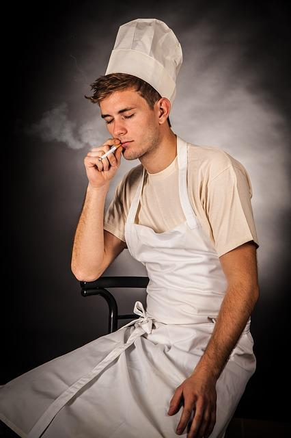 Cooking, Smoking, Cigarette, Kitchen, Steam, Eat, Cook