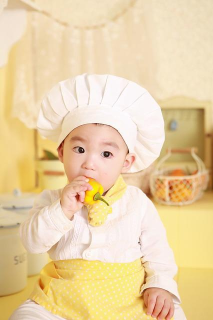 Baby, Costume, Asian, Cooking, Kitchen, Chef, Eat, Food