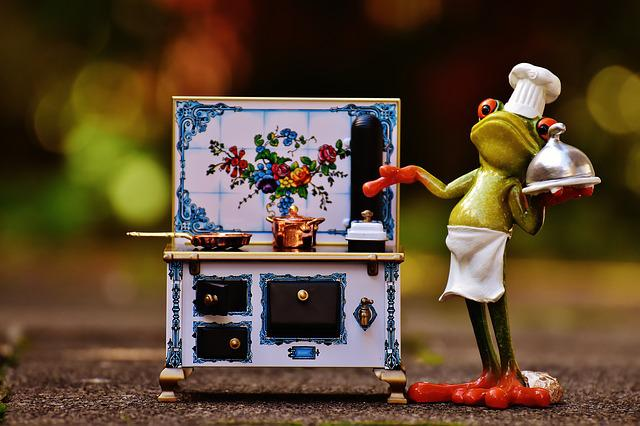 Frog, Cooking, Stove, Pan, Pot, Eat, Kitchen, Gourmet