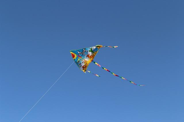 Sky, Kite Flying, Dragon, Game, Fun, Cant
