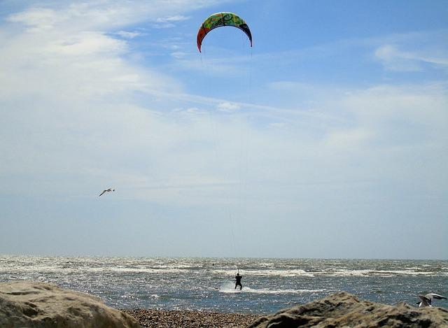 Kite, Surfer, Surf, Water, Ocean, Sport, Boarding