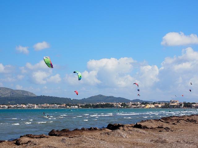Kitesurfer, Sport, Sea, Wind, Water, Bay Of Pollensa