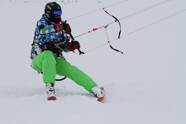 Kite, Kitesurfing, Winter, Sports, Extreme, Skiing