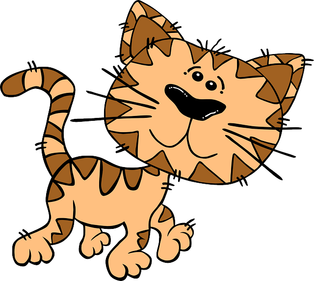Cats, Kittens, Animal, Cartoon, Moving, Walking, Cute