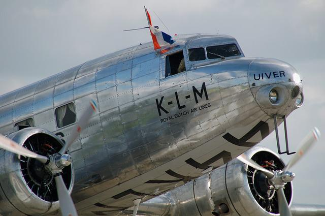 Plane, Transport, Aircraft, Klm, Uiver, Airshow, Motor