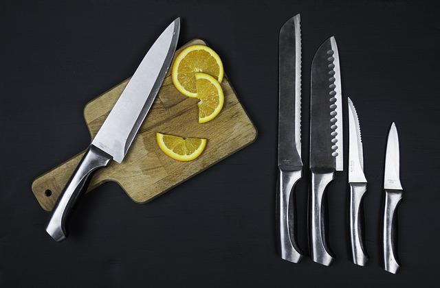 Food, Kitchen, Kitchen Utensils, Knife, Knife Set