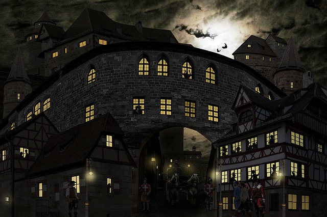 Middle Ages, Castle, Knight's Castle, Nuremberg, Coach