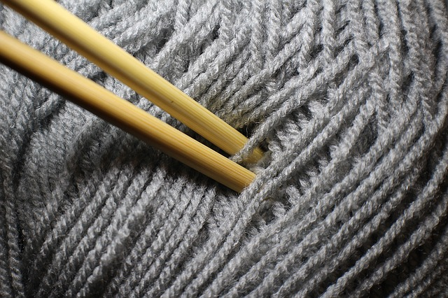 Needle, Knit, Hand Labor, Hobby, Wool, Grey