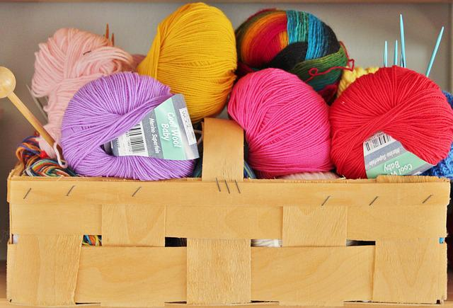 Wool, Knit, Knitting Needles, Basket, Colorful, Hobby