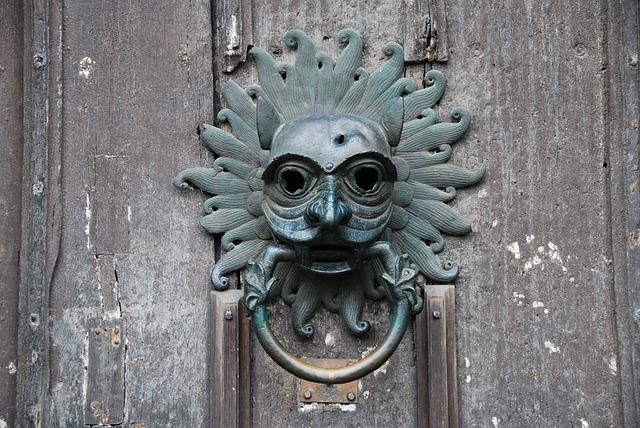Durham, Cathedral, Door, Knocker, Metal, Face, Knock