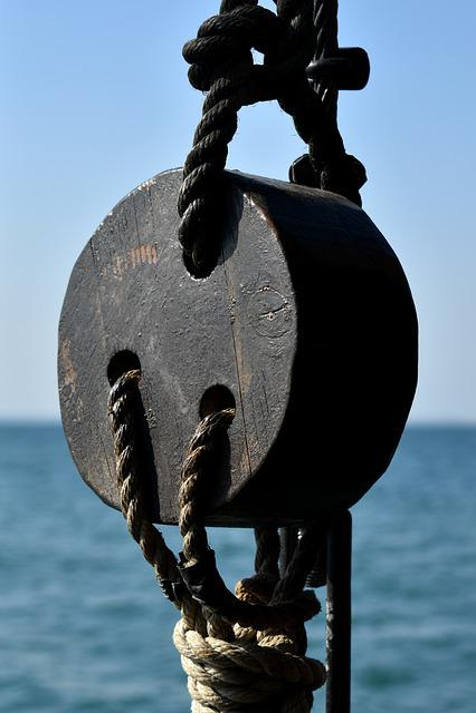 Rope, Wood, Knot, Sail, Ship, Sea, Boat