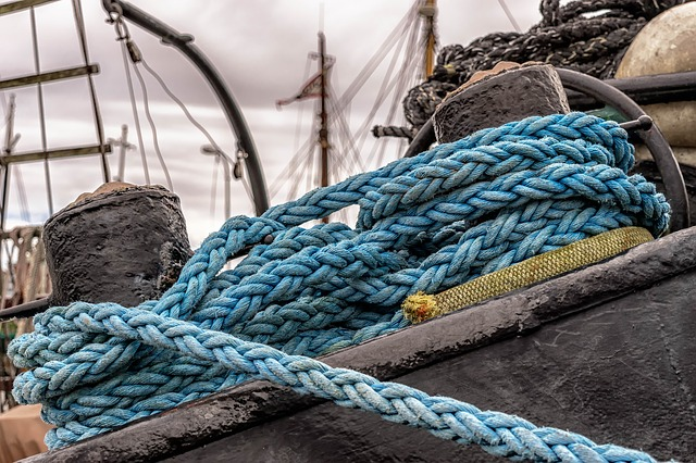 Dew, Canvas, Rope, Ship Traffic Jams, Moor, Knotted