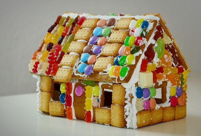 Gingerbread House, Knusperhaus, Delicacy