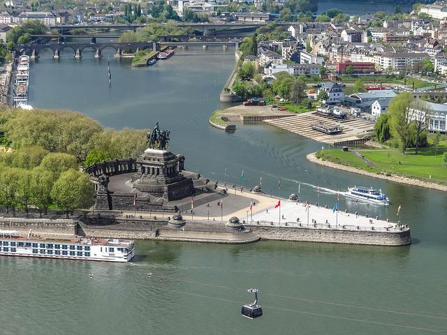 German Corner, Koblenz, Rhine, Mosel, Sachsen