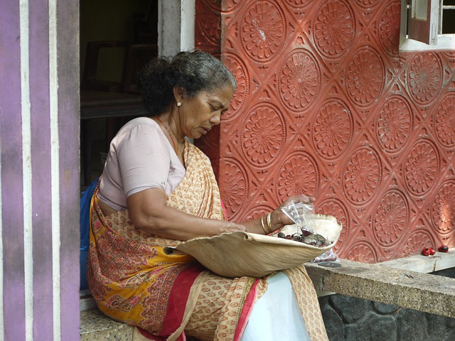 Woman, Old, Indian, India, Kerala, Cochin, Kochi