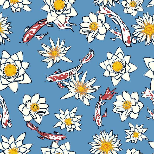 Koi, Pattern, Japanese, Background, Texture, Graphics