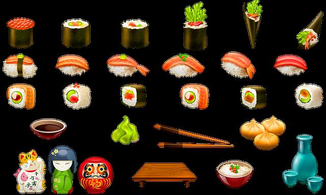 Sushi, Japanese Food, Kokeshi Doll, Maneki Neko, Food