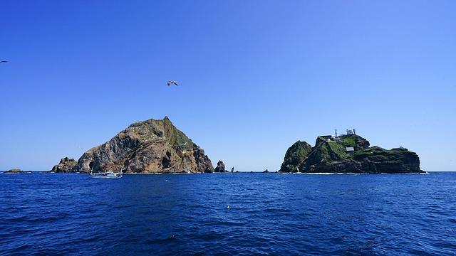 Free Photo Korea Sea Dokdo Coast Travel Japan Sea Island