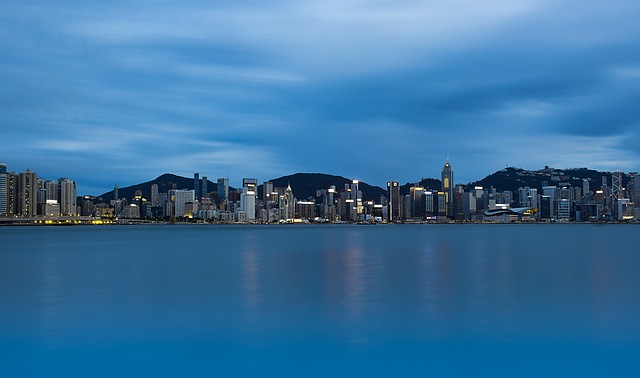 Hong Kong, Kowloon, Victoria Harbour, In, Twilight