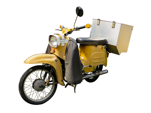 Moped, Krad, Vehicle, Spotlight, Png, Isolated, Luggage