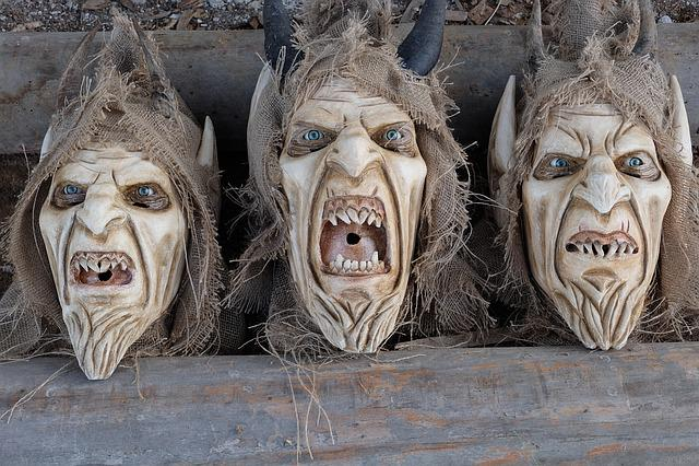 Krampus, Customs, Austria, Mask, Devil, Wooden Mask