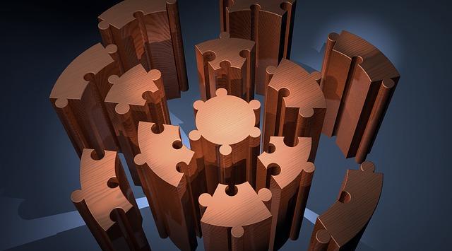 Kreispuzzel, Platform, Presentation, Puzzle, 3d Model