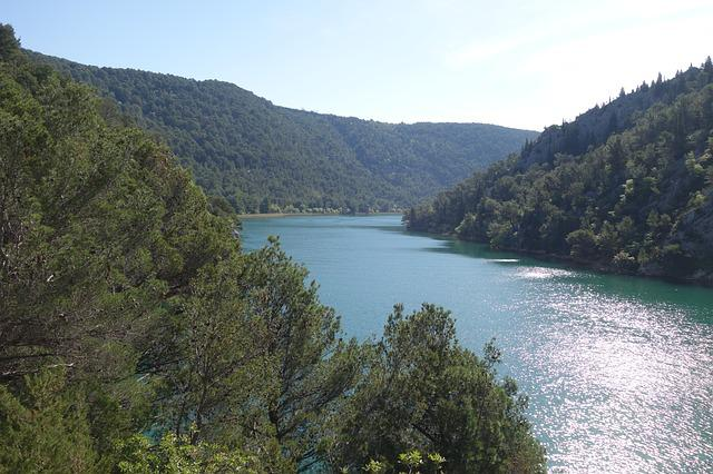 Lake, Forest, Nature, National Park, Krka
