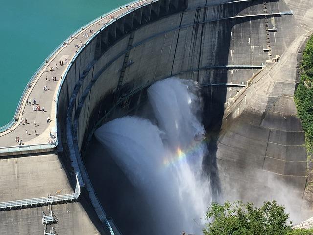 Japan, Nagano, Krobe, Dam