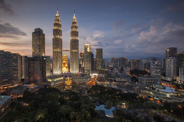Kuala Lumpur, Twin Tower, City, Lights, Skyline