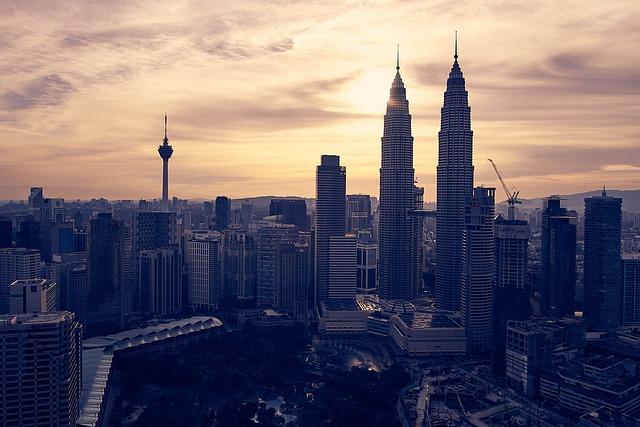 Malaysia, Kuala Lumpur, Sunset, Klcc, Building
