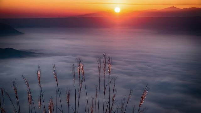 Japan, Aso, Cloud, Sea Of Clouds, Asahi, Kumamoto