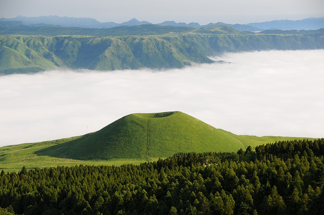 Aso, Komezuka, Sea Of Clouds, Cloud, Kumamoto, Japan