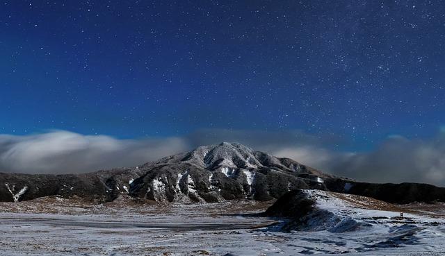Japan, Kumamoto, Aso, Starry Sky, Star, Night, Cloud