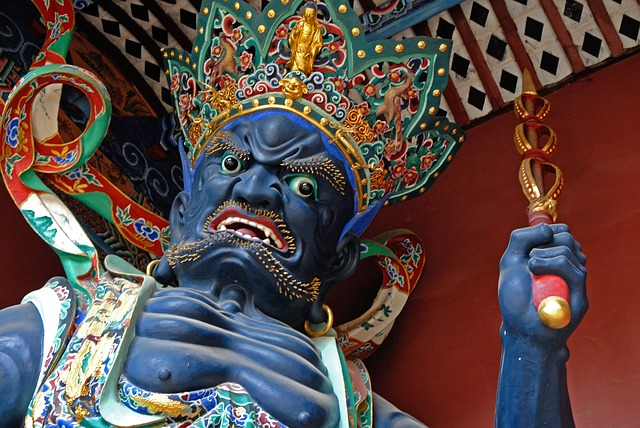 China, Kunming, West Mountain, Temple Guardian