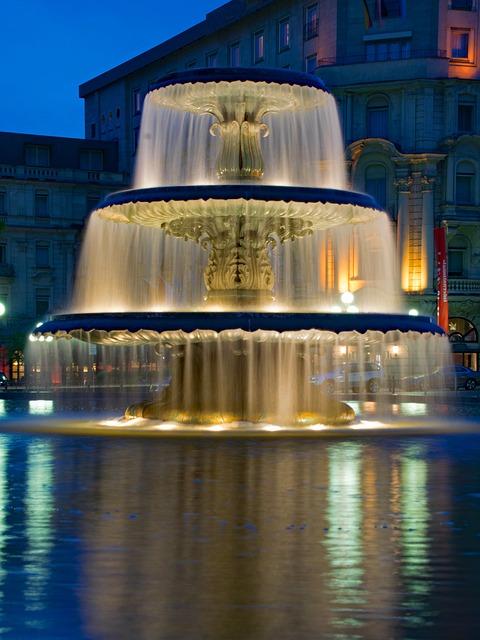 Fountain, Kurhaus, Wiesbaden, Hesse, Germany, Europe