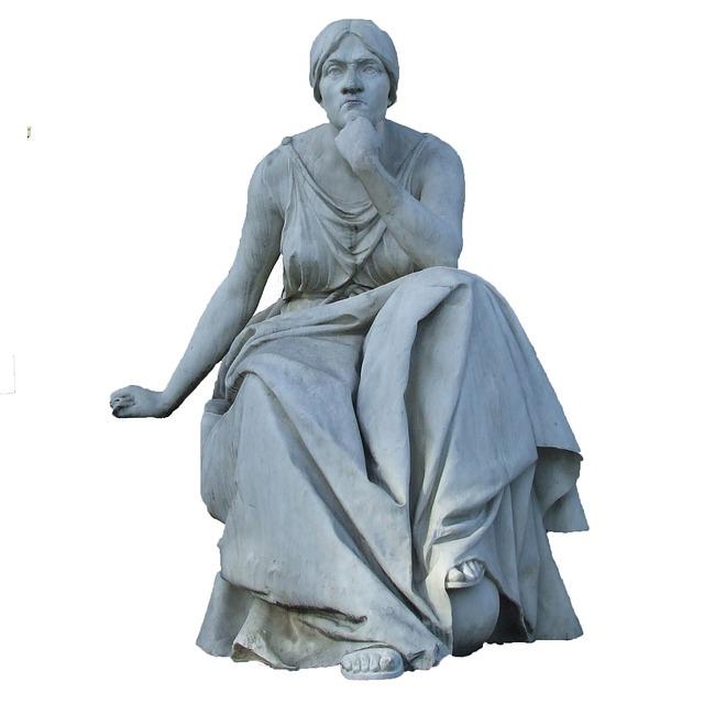 Stone Figure, Wiesbaden, Kurpark, Muse, Tragedy