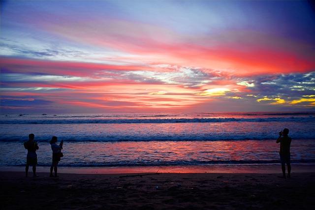 Kuta Beach, Kuta, Bali, Indonesia, Sunset, Leisure