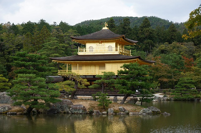 Kinkakuji, Kyoto, Golden Pavilion, Japan, Zen Temple