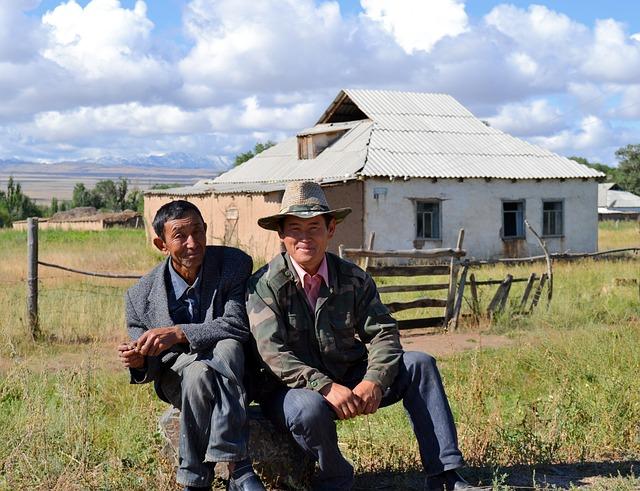 Kyrgyzstan, Peasantry, Meeting, Farm