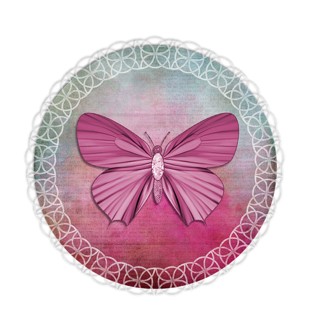 Tag, Lace, Pink, Green, Label, Butterfly, Scrapbooking