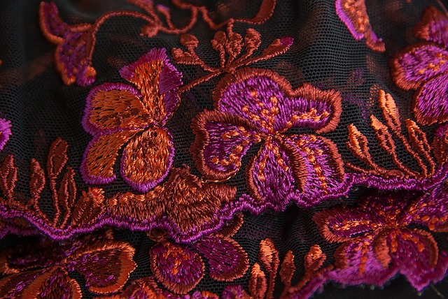 Lace, Embroidery, Couture, Flowers