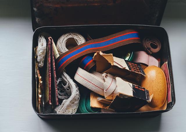 Box, Case, Lace, Threads, Vintage, Yarn