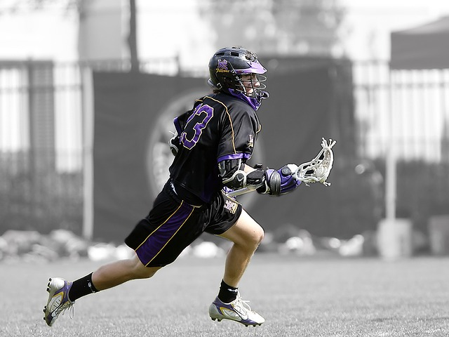 Lacrosse, Lax, Player, Lacrosse Player, Running, Stick